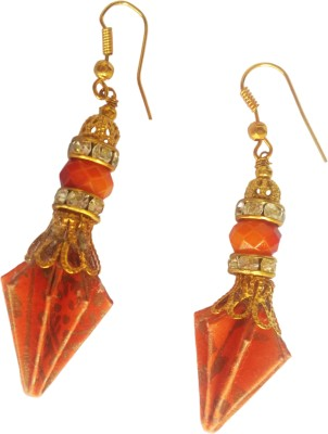Origami Noshi Orange Pine Cones Paper Dangle Earring