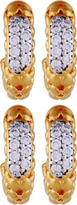 Dubbai Gold Just Like Diamonds Metal Earring Set