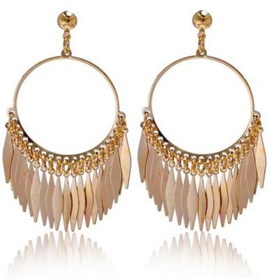 Glitz Fashion Big Circle Alloy Chandelier Earring