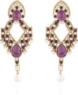 I Jewels Kundan Alloy Chandelier Earring