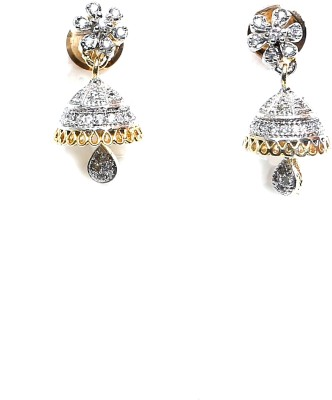 Taj Jewels Spring Sparkle Copper Jhumki Earring