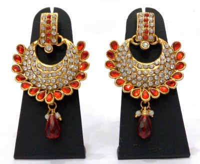 Womaniya Kundan Paradise Alloy Chandbali Earring