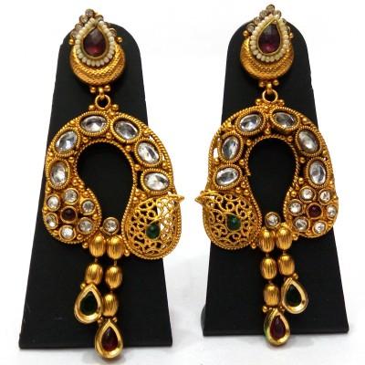 Womaniya Kundan Bonanza Alloy Drop Earring