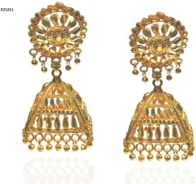 Pakeezah Golden Lady Alloy Jhumki Earring