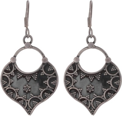 Chandrika Pearls Oxidised 925 Silver Dangle Earring
