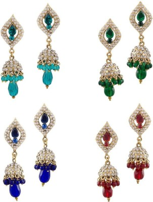 Buyclues RCCJ3436 Crystal Brass Earring Set