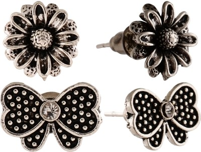 Anokhi Ada Butterfly and Sunflower Metal Stud Earring