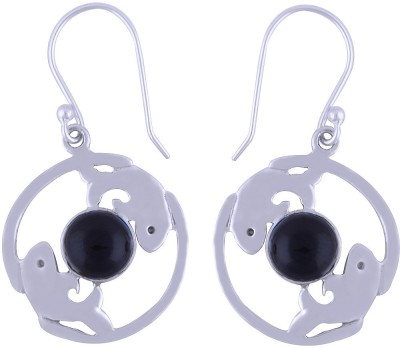 Silver Prince Designer Onyx Silver Dangle Earring