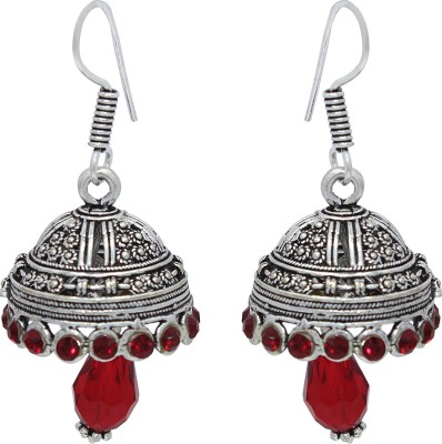 Bhavikaa Oxidised Multicolor Beads German Silver Drop Earring
