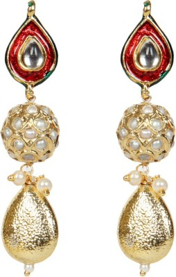 Envy Meena Top Brass Drop Earring