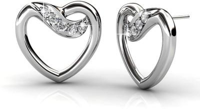 JDX Heart Swarovski Zirconia Silver Stud Earring
