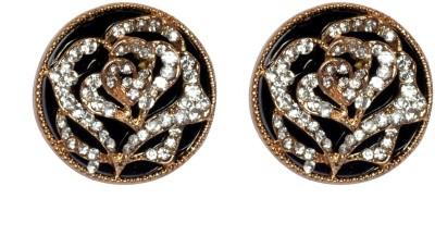 Sparkling Trinkets Black Alloy Stud Earring