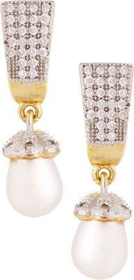 Fashionaya Diamond Snob Cubic Zirconia Alloy Drop Earring