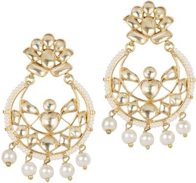 Mehtaphor Akriti Crystal Brass Chandbali Earring