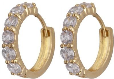 Siyora Classic White Brass Huggie Earring
