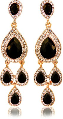Moedbuille Black Drop Earrings [MBER00383] Cubic Zirconia Alloy Drop Earring