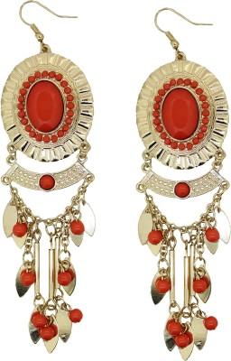 Circuzz Trible orange Brass Dangle Earring