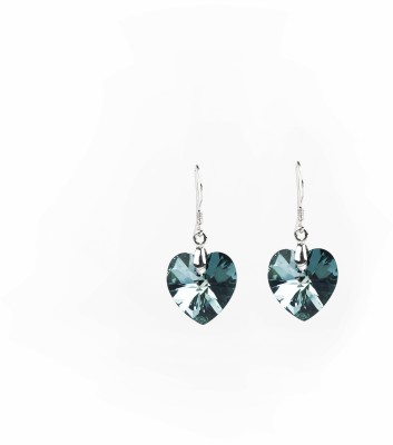 Jewelfin Blue Heart Alloy Drop Earring