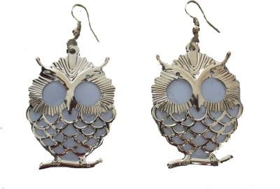 MH Owl Crystal Plastic Dangle Earring