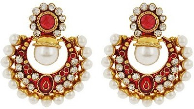 Jwells & More Ethnic Charm Alloy Chandbali Earring