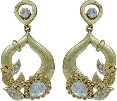 Pankh Antique White Topaz Brass Drop Earring