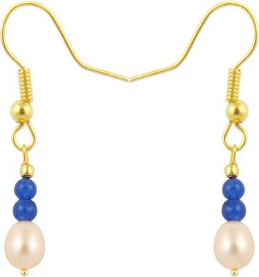Pearlz Ocean Satisfying Pearl, Jade Alloy Dangle Earring