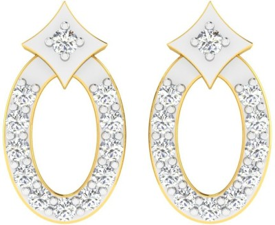 Sparkles T9763D Yellow Gold 18kt Diamond Stud Earring