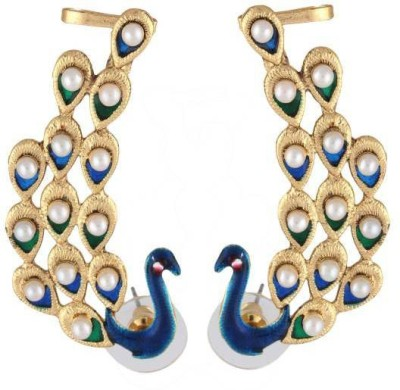 Deco Junction Ethnic Peacock Design Alloy Cuff Earring