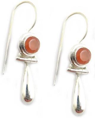 Miska Silver Beautiful Carnelian Silver Dangle Earring