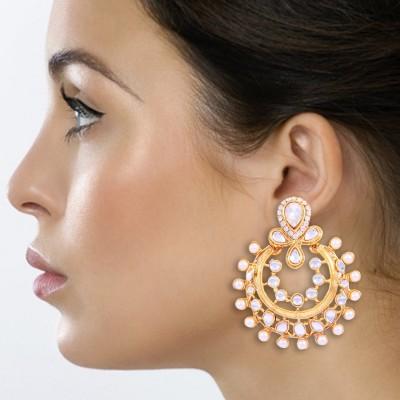 Kraft Central Ramleela Pearl Brass Chandbali Earring