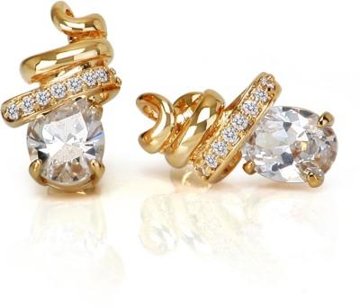 Infinity Trial Brass Stud Earring