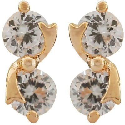 Maayra Fashion Cubic Zirconia Brass Huggie Earring