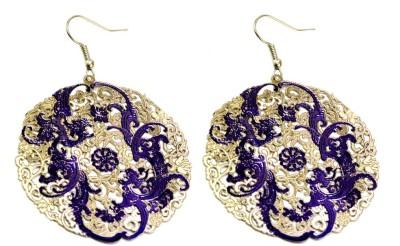 Krishna Mart A Pair Of Indian Girls Floral Earrings Metal Dangle Earring