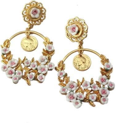 Bellofox Designer Rose Vintgarlands Dangle Fashion Alloy Stud Earring