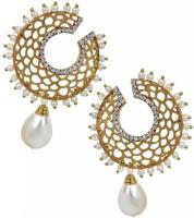 The Jewel Box Chaand Filigree Dangling Pearl Copper Drop Earring best price on Flipkart @ Rs. 591