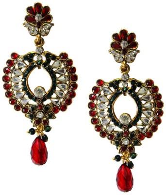 Beingwomen Elegant Gold Plated Kundan Studded Fashion Alloy Drop Earring