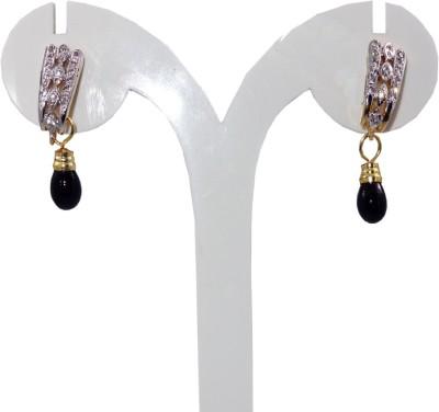Anjan Good-Looking Golden Cubic Zirconia Brass Drop Earring