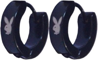 Men Style Playboy Inspired Stainless Steel Hoop Earring