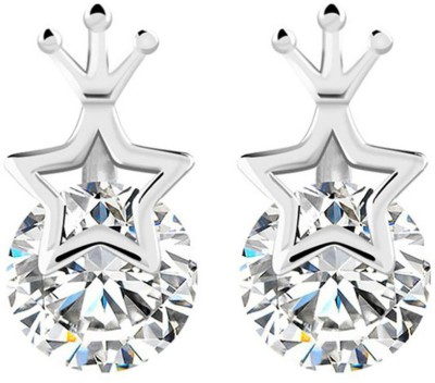 Ruvee Kings Princess Zircon Alloy Stud Earring