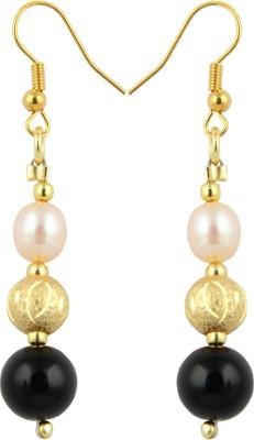 Pearlz Ocean Euphoria Pearl, Onyx Alloy Dangle Earring