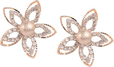 Sanaya Collection Floral Zircon Alloy Stud Earring