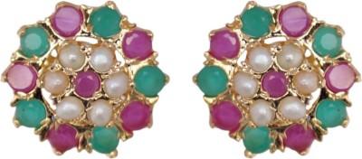 Janki Jewellers Princess Delight Cubic Zirconia Alloy Stud Earring