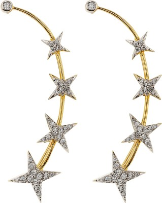 Jwells & More Traditional Grace Silver Cuff Earring
