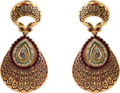 Aaina Home Decor Trendy Earring Cubic Zirconia Copper Chandelier Earring