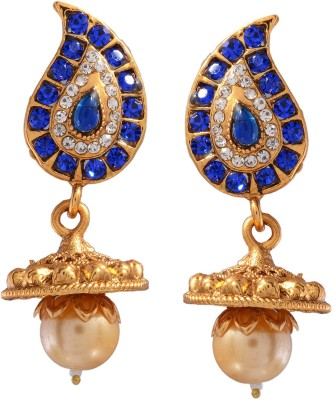Ark Gorgeous Ethnic Crystal Alloy Jhumki Earring