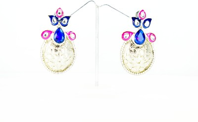 Chouhan Stylish designer stone earring Metal Chandbali Earring