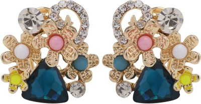 Jewel Touch European Fashion Wild Flowers Alloy Clip-on Earring