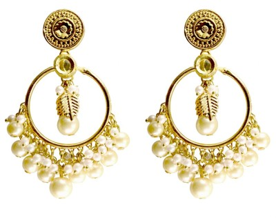 Rasaam Straight hoop multipurpose Beads Alloy Chandelier Earring