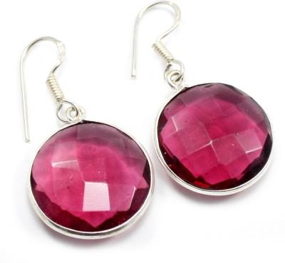 Silvesto India 1478 Quartz Sterling Silver Dangle Earring