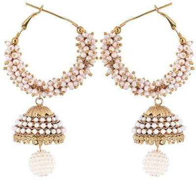 Vanshika Jewels AD With Pearl Studded Alloy Jhumki Earring